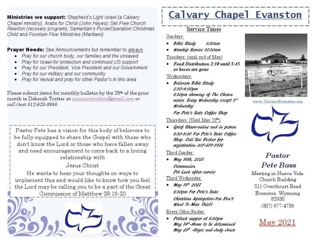 Post image for May 21 Bulletin